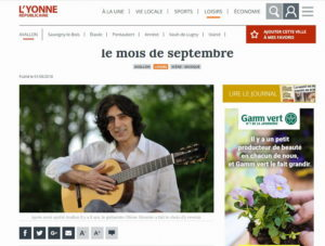 Le guitariste proposera des cours dès le mois de septembre